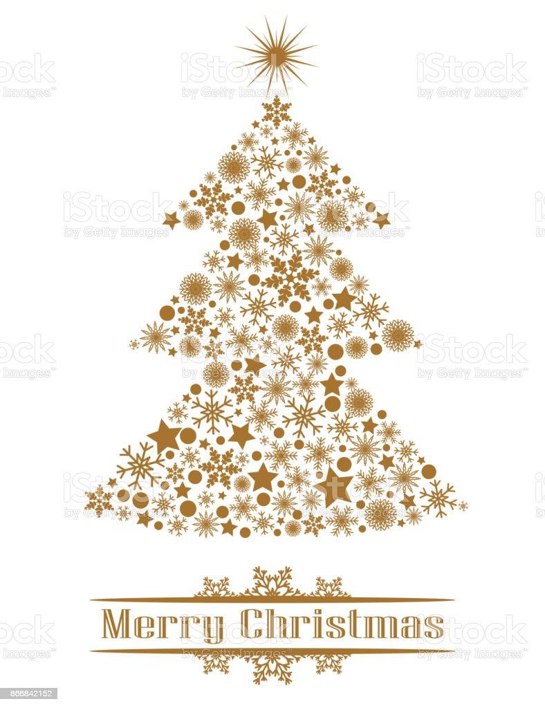 Golden Christmas Tree Stock Illustration Download Image Now Istock