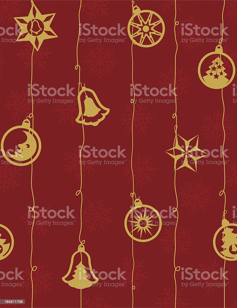 Golden christmas-tree decorations royalty-free golden christmastree decorations stock vector art & more images of backgrounds