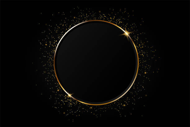 Golden circle abstract background. Golden circle abstract background. celebrities stock illustrations