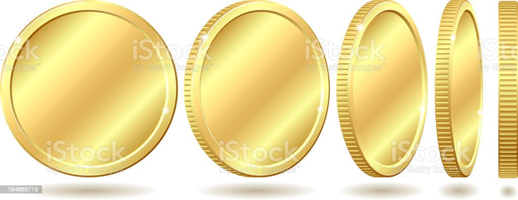 golden coin vector art illustration