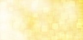 Golden or mustard colour shining star horizontal backgrounds stock illustration. Looks like twinkling lights light shiny background stock photo. Vignette, vignetting, copy space. No people. No text. A bright white light brightens up the centre, middle or center of the frame. Different sized overlapping circles in same tone of colour, shade. Apt for party, Xmas, Christmas, Diwali, New Year's eve, birthday party celebration, luxurious, luxury checkered, chequered backdrop, wallpaper,  romantic gift wrapping paper.