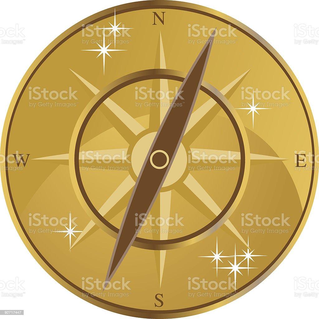 Golden Compass royalty-free stock vector art