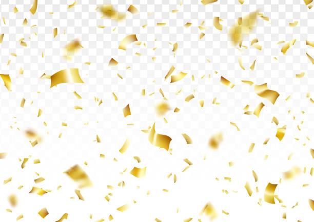 黄金の紙吹雪の背景 - 紙吹雪点のイラスト素材/クリップアート素材/マンガ素材/アイコン素材