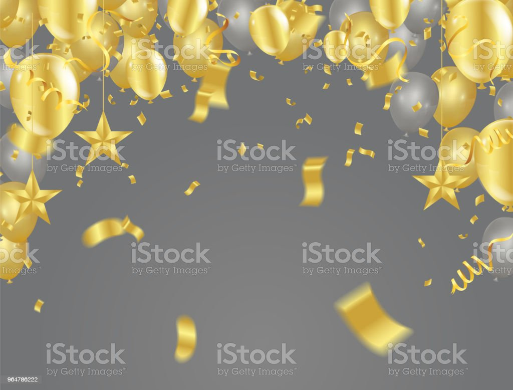 Golden confetti isolated. Festive background. Vector illustration gold tiny confetti pieces. royalty-free golden confetti isolated festive background vector illustration gold tiny confetti pieces stock vector art & more images of abstract