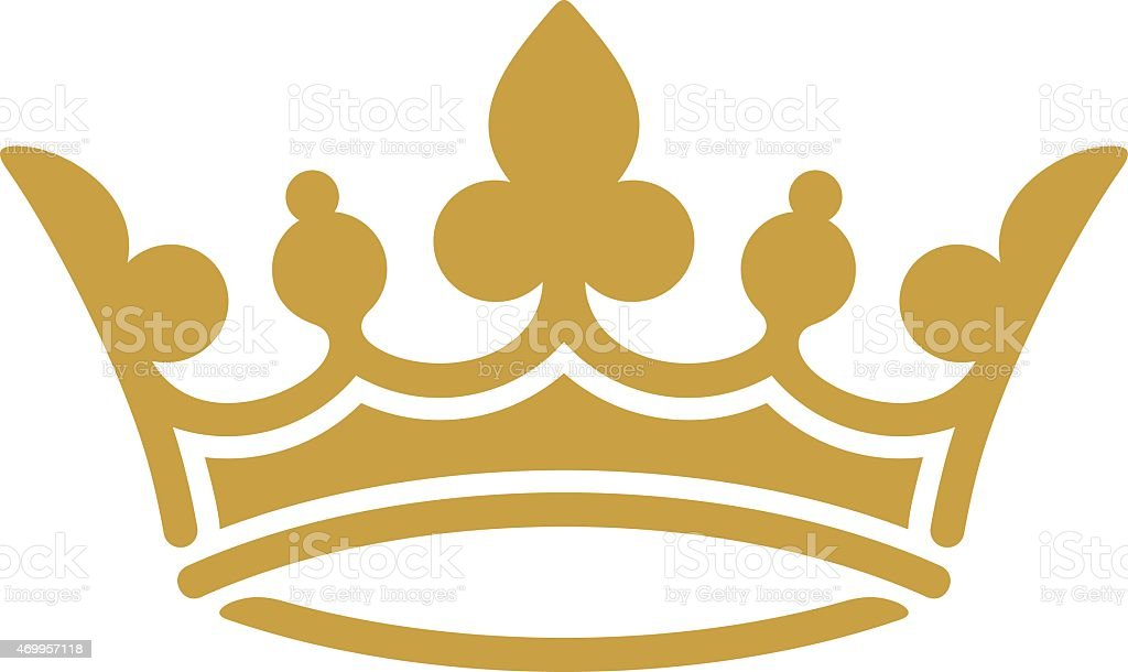golden crown stock vector art more images of 2015 469957118 istock rh istockphoto com queens crown vector art crown vector art free download