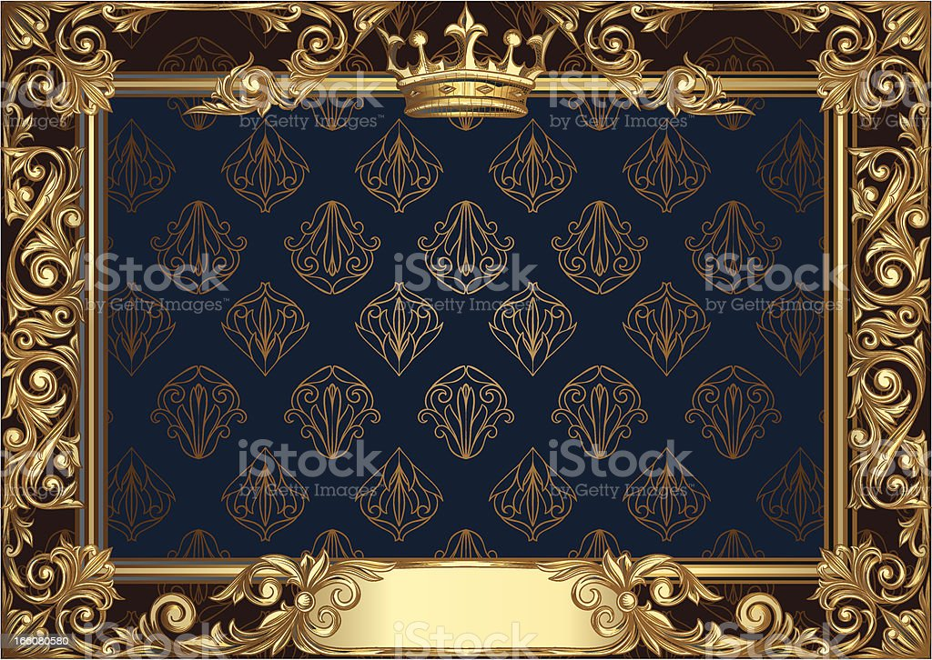 Golden decorative frame royalty-free golden decorative frame stock vector art & more images of abstract