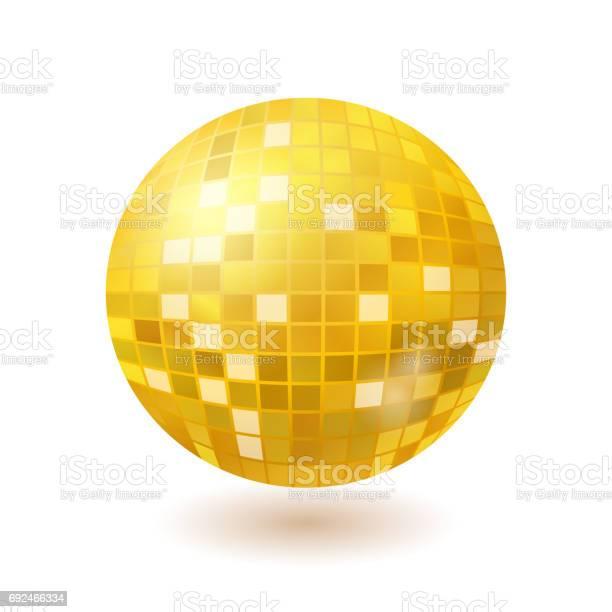 Vetores De Bola De Espelhos De Disco Dourado Isolada No Fundo Branco E Mais Imagens De Abstrato Istock As lentes são polarizadas em cristal. vetores de bola de espelhos de disco dourado isolada no fundo branco e mais imagens de abstrato istock
