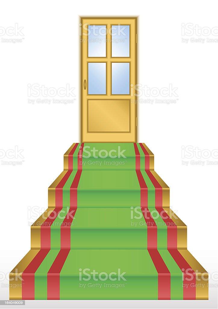 Golden door. royalty-free stock vector art