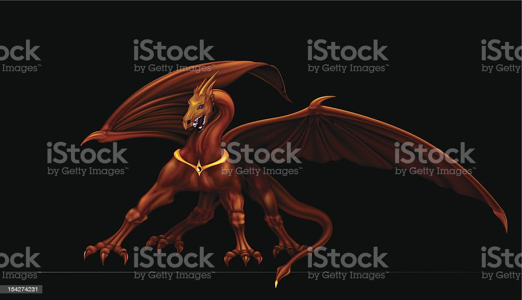 Golden dragon royalty-free golden dragon stock vector art & more images of animal