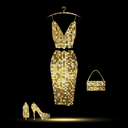 Golden Dress Stock Illustration Download Image Now Istock