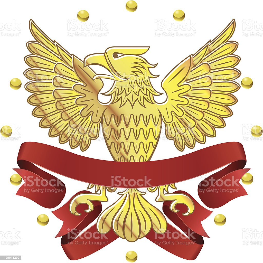 Golden Eagle Symbol With Banners Stock Vector Art More Images Of