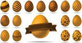Eggs with various patterns. EPS8 File. No gradient meshes or transparency effects used. Contains a high resolution jpg.