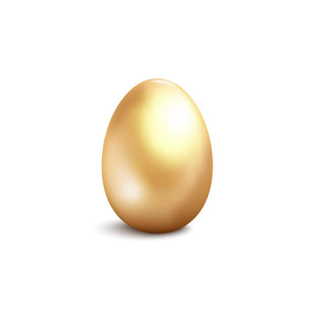 Golden egg isolated on white background. Golden egg isolated on white background. Vector illustration nest egg stock illustrations