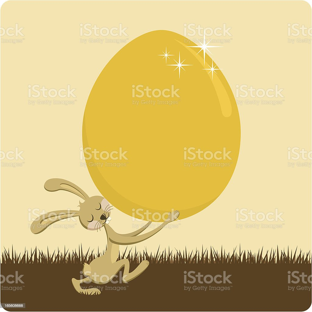 Golden egg royalty-free stock vector art