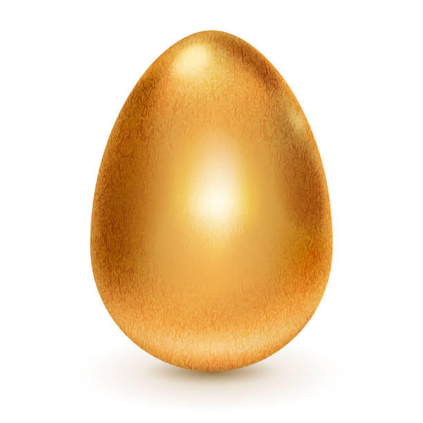 stockillustraties, clipart, cartoons en iconen met golden egg - egg