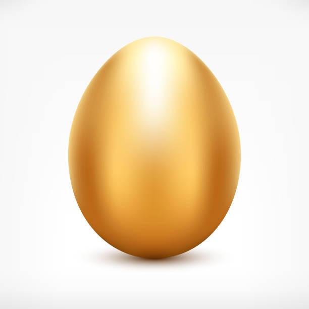 golden egg - egg stock illustrations, clip art, cartoons, & icons