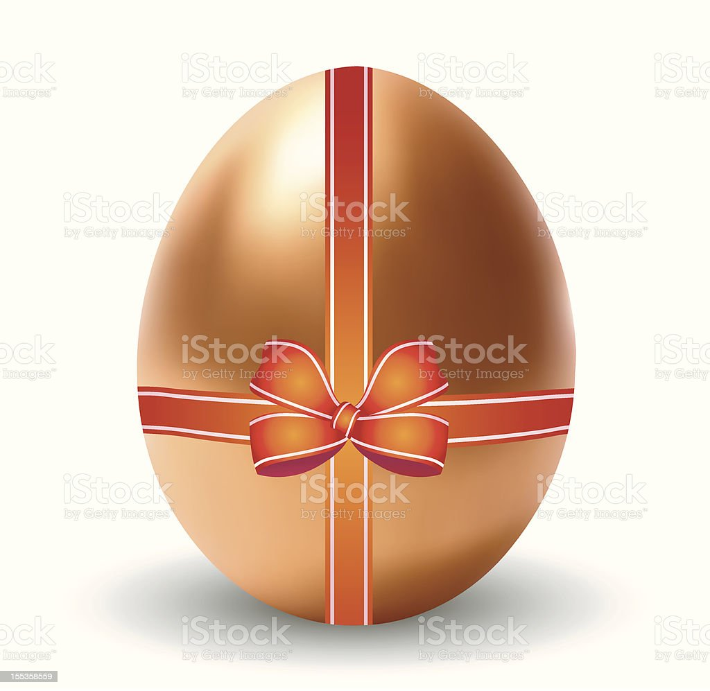 Golden Egg with Bow royalty-free stock vector art