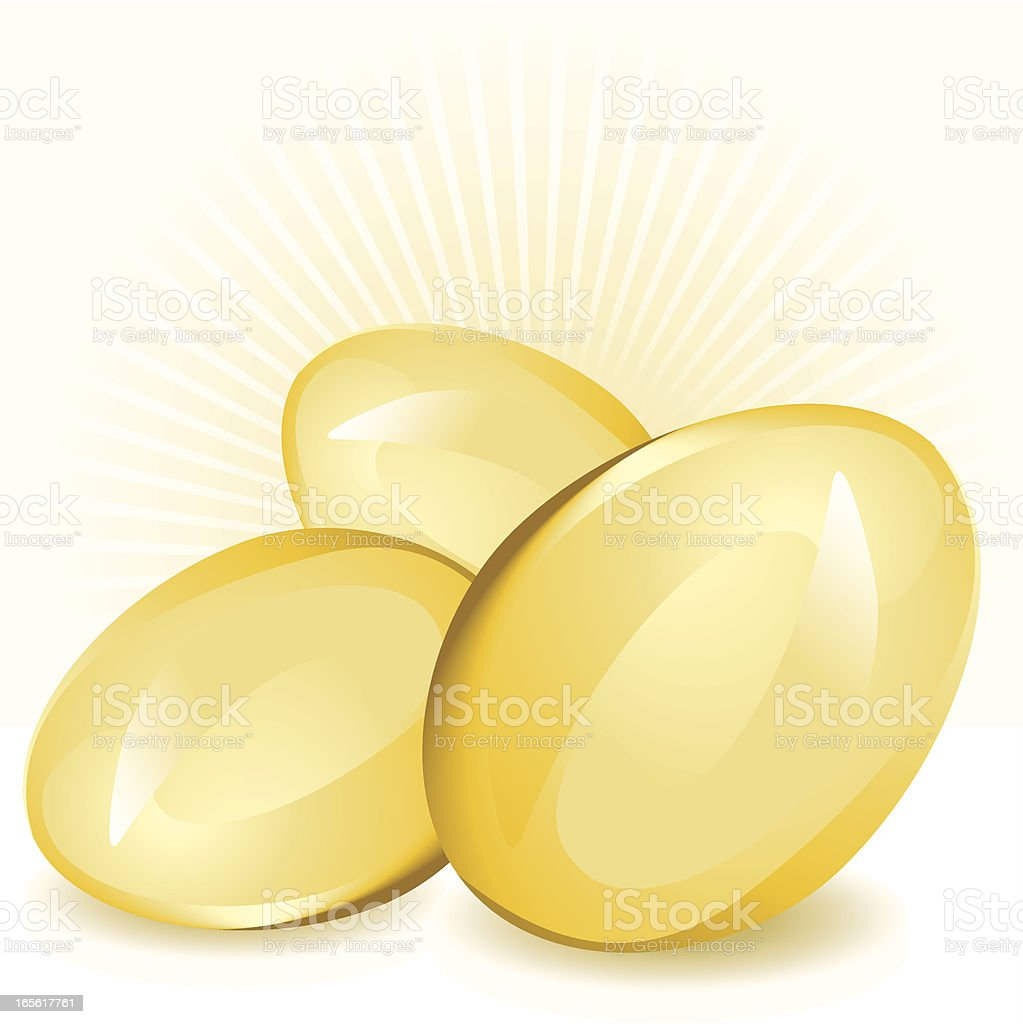 Golden eggs - Savings and Riches Concept royalty-free stock vector art