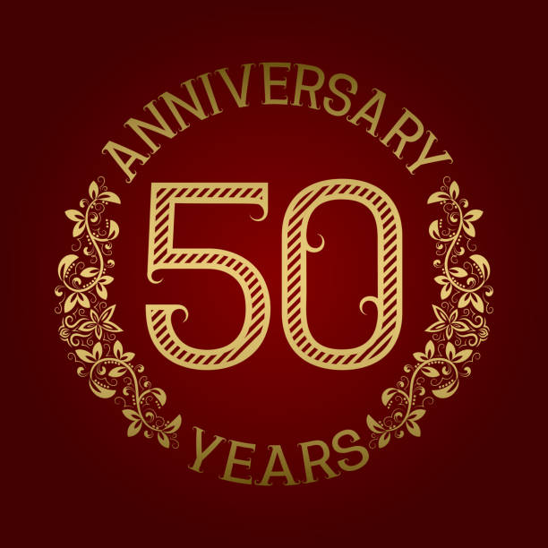 Best 50th Wedding Anniversary Illustrations, Royalty-Free ...