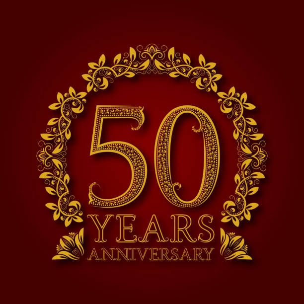 Royalty Free 50th Wedding Anniversary Clip Art, Vector ...