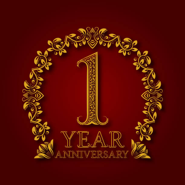 Royalty free one year anniversary clip art vector images