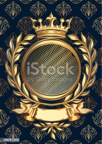 istock Golden emblem 166081359