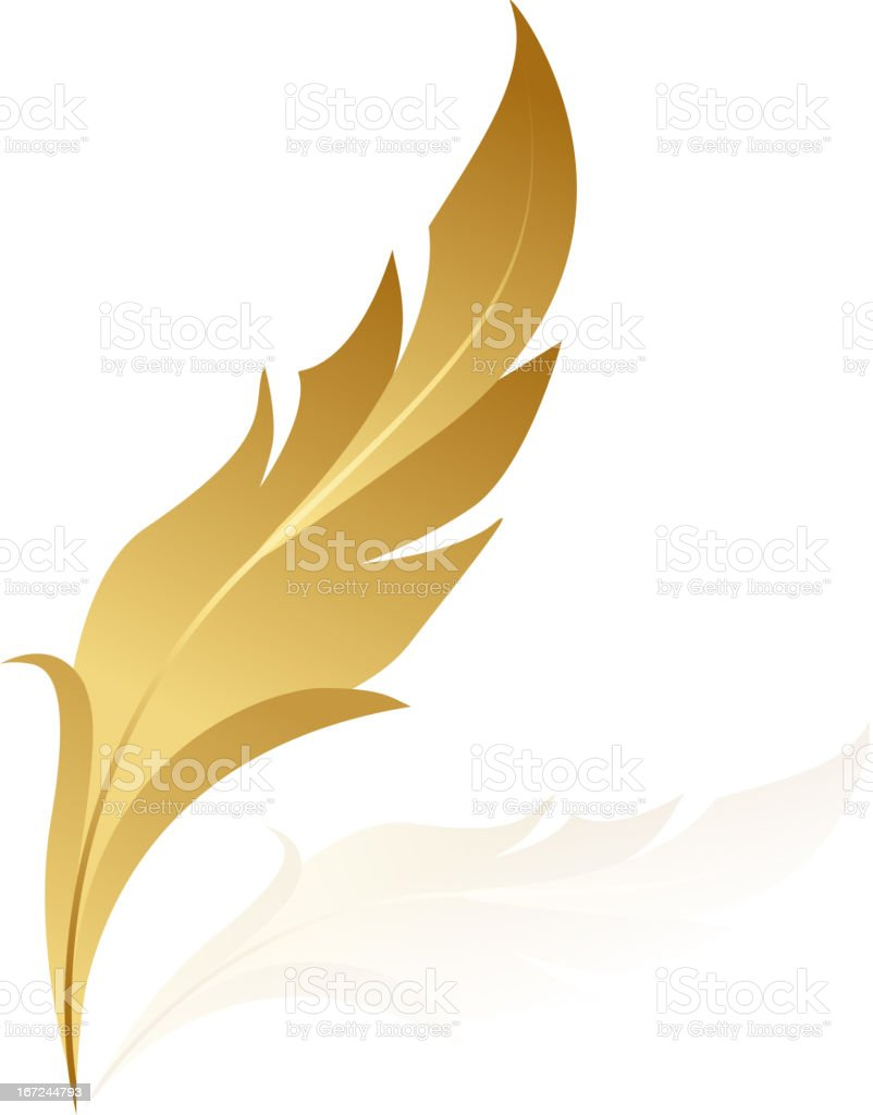 golden feather royalty-free stock vector art
