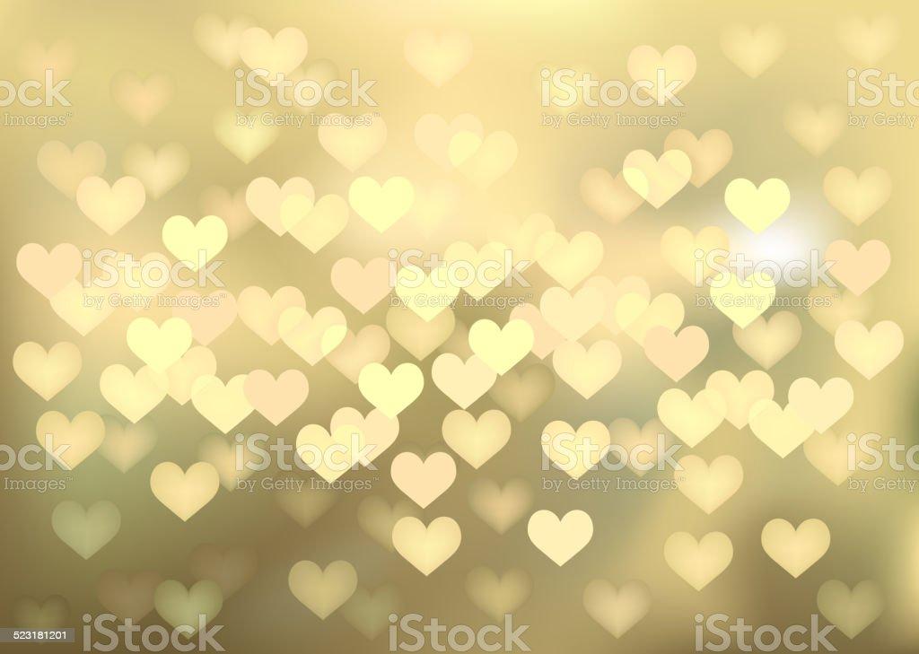Sfondi Natalizi Oro.Luci Di Natale Doro A Forma Di Cuore Vector Sfondo Immagini