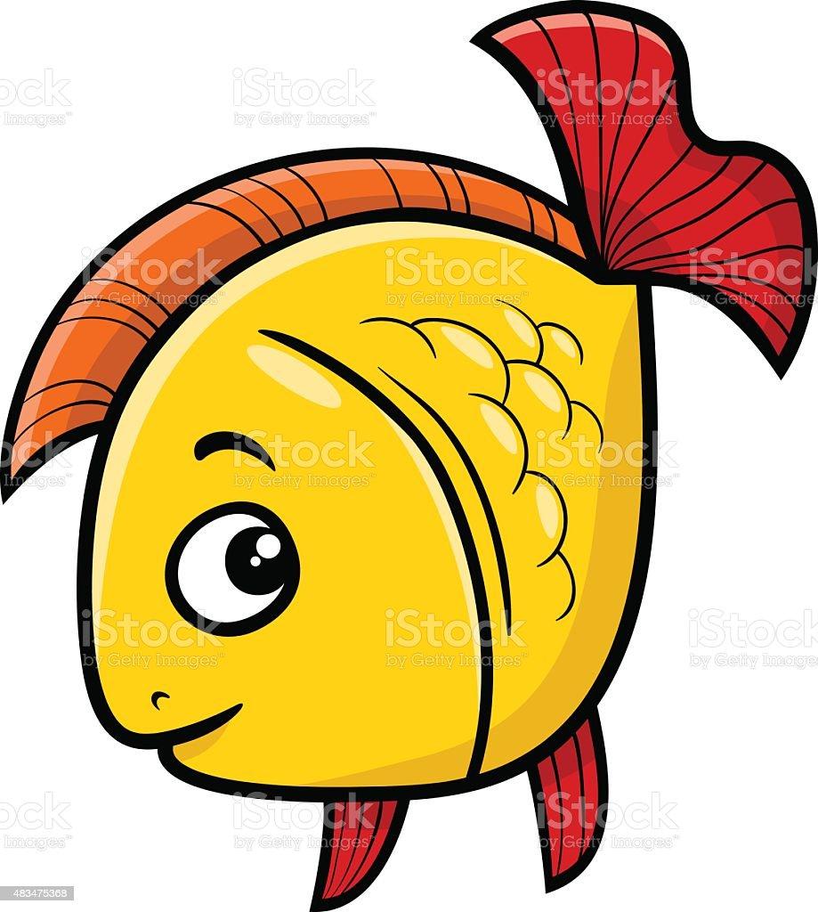 pez dorado ilustraci243n dibujo animado arte vectorial de