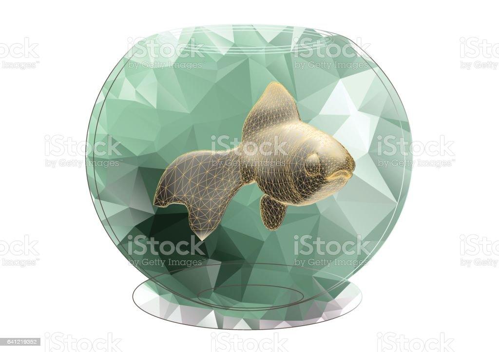 golden fish vector art illustration