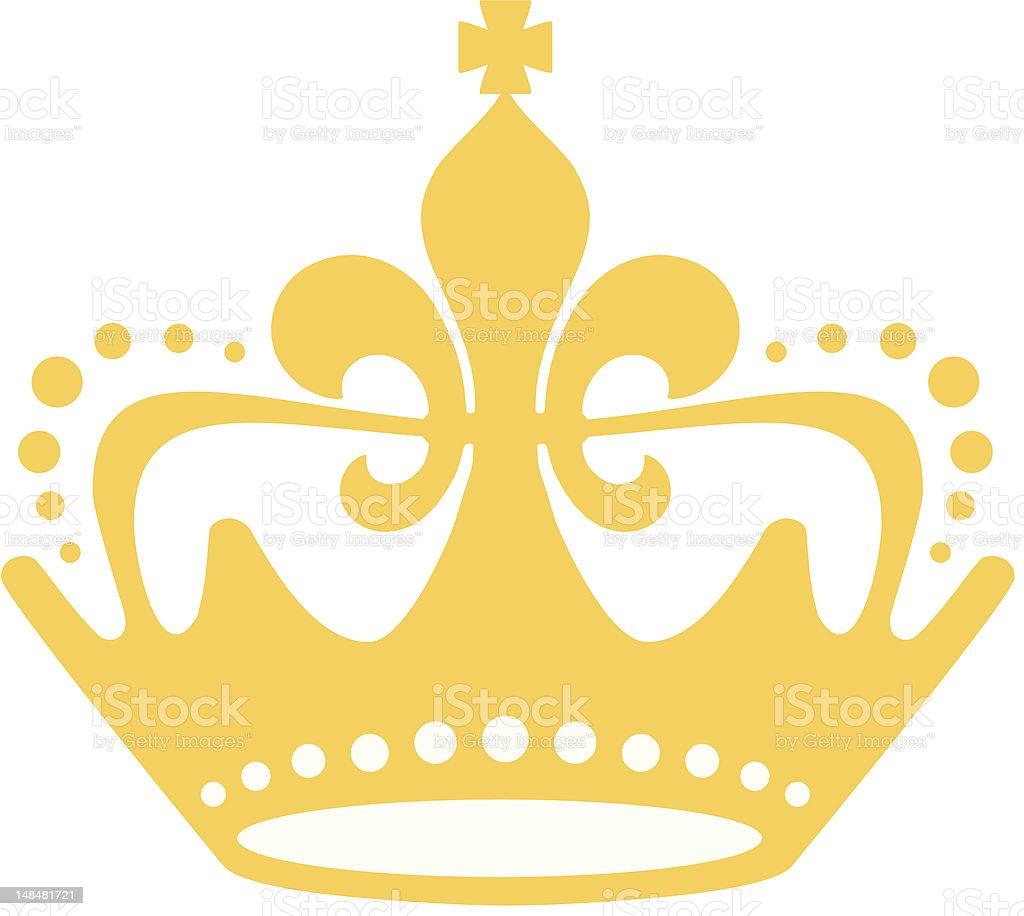 Golden Fleur-de-lis Crown royalty-free stock vector art