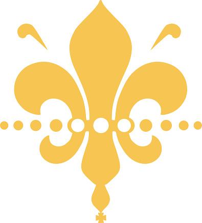 golden fleure de lis - modern roalty