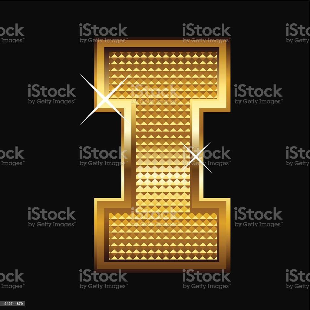 Golden Font Type vector art illustration