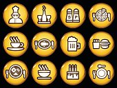 Food and drink icons.