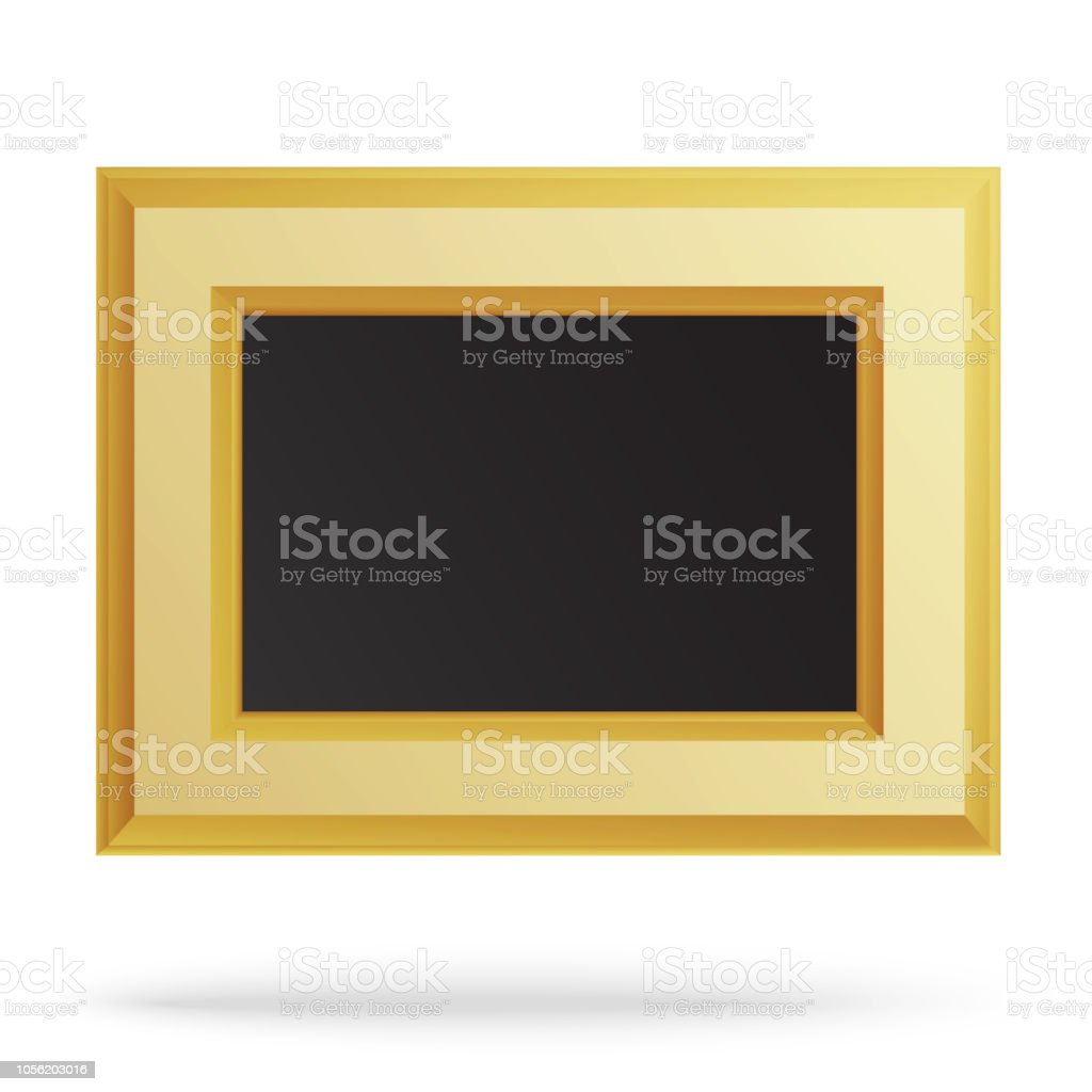 ce9ed1a15f60 Golden frame for painting or picture isolated on white background royalty-free  golden frame for
