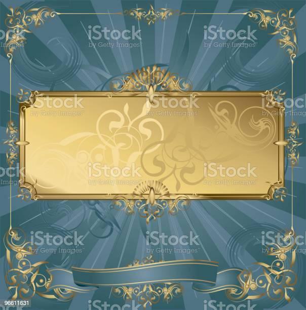 Golden Frame-vektorgrafik och fler bilder på Abstrakt