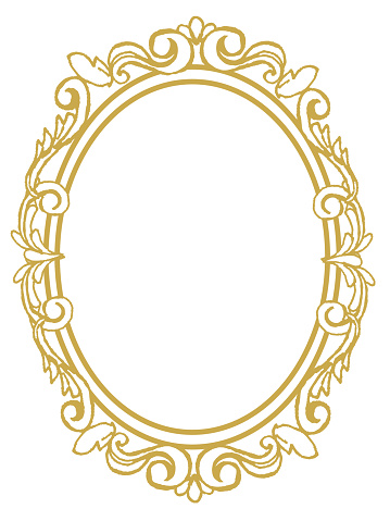 golden frame with ornaments