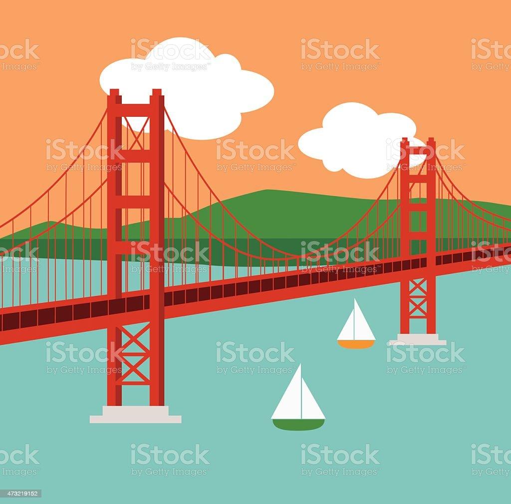 royalty free golden gate bridge clip art vector images rh istockphoto com san francisco golden gate bridge clipart golden gate bridge icon clipart