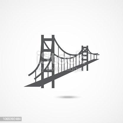 Golden Gate Bridge Icon on white background