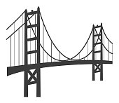 Vector of Golden Gate Bridge Icon