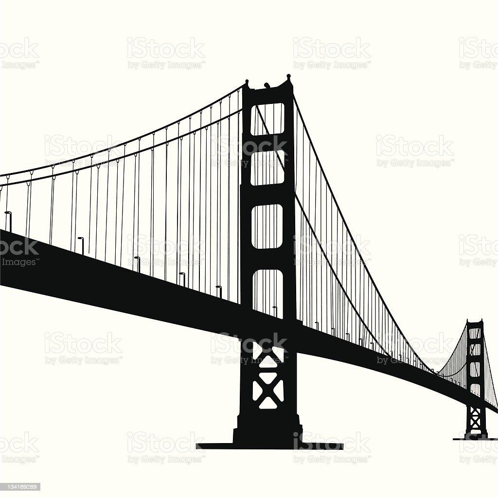 royalty free golden gate bridge clip art vector images rh istockphoto com golden gate bridge vector free download golden gate bridge skyline vector
