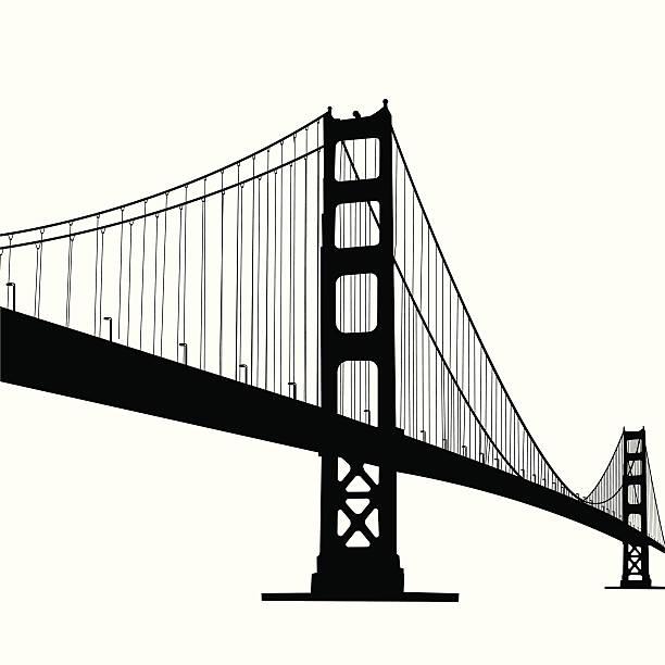 Royalty Free Golden Gate Bridge Clip Art, Vector Images ...