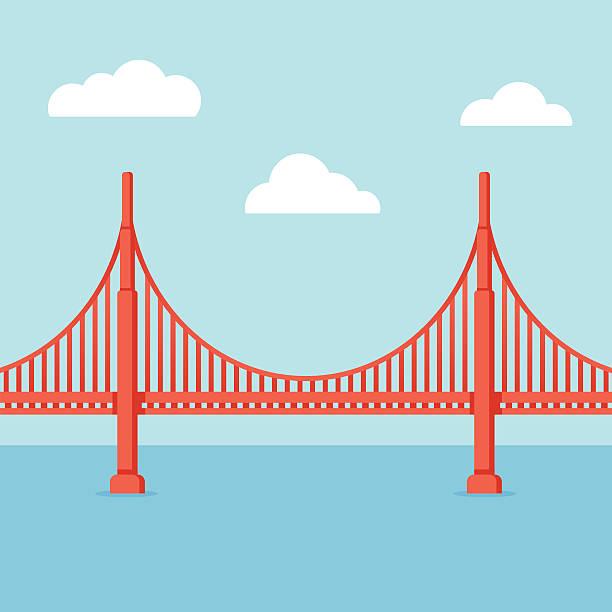 Golden Gate Bridgevectorkunst illustratie
