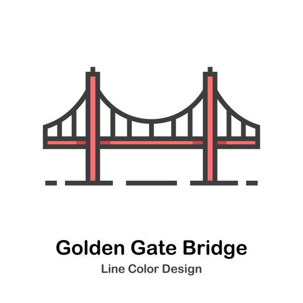 Top 60 Golden Gate Bridge Clip Art, Vector Graphics and