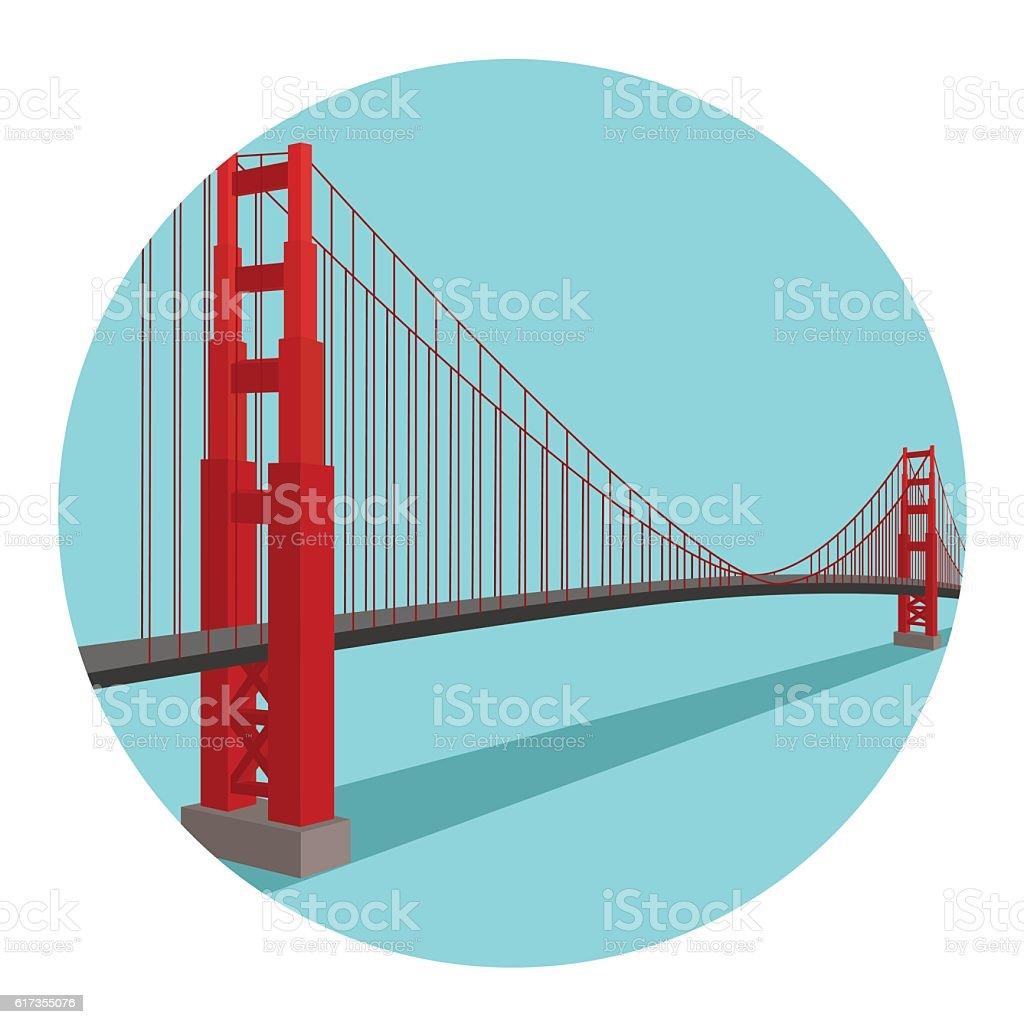 Golden Gate Bridge. Vector Illustration vector art illustration