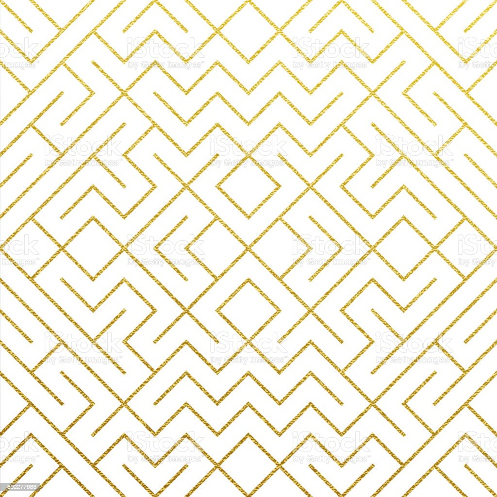 Golden Geometric Pattern Background With Abstract Gold
