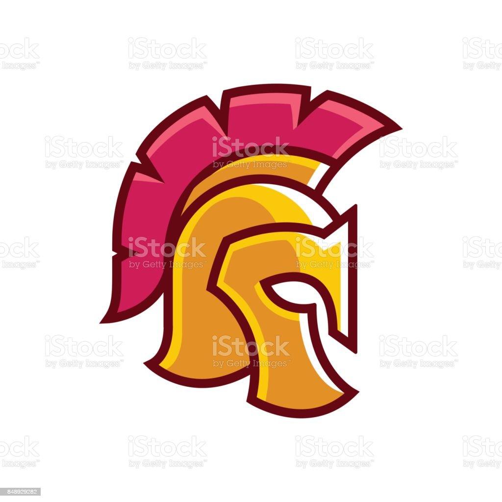 golden gladiator helmet logo stock vector art more images of rh istockphoto com gladiator locomotives online sales gladiator logo images