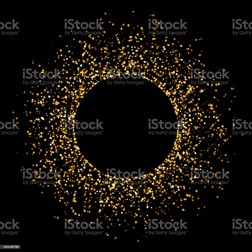 Golden Glitter Background vector art illustration