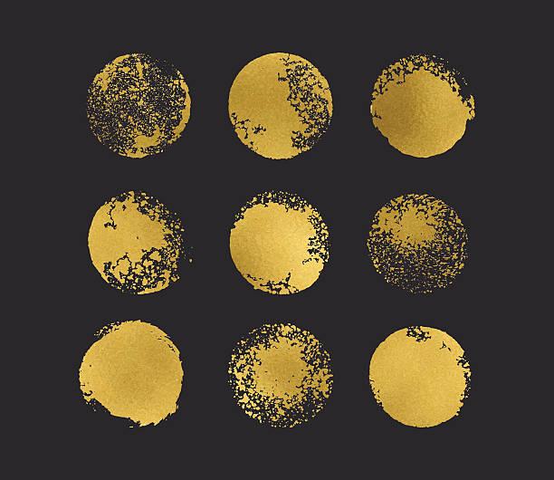 Golden glitter circles boho chic style – Vektorgrafik