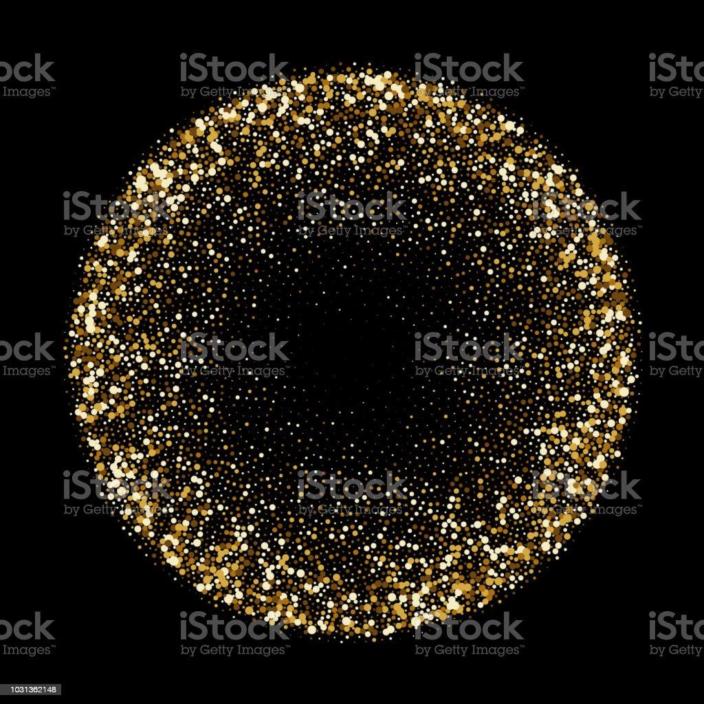 Ilustracion De Brillo Dorado Confeti Oro O Esfera Brillante